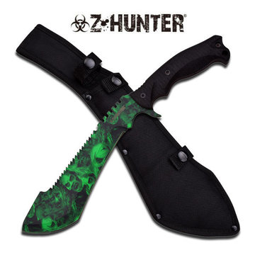 Z-Hunter Green Skull Machete