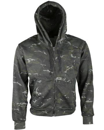 BTP Black Fleece vest met chapuchon