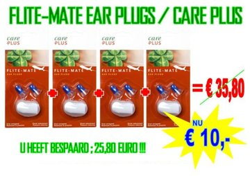4 sets Care Plus Ear Plugs Flite Mate