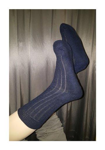 4 paar Sponszool sokken, blauw