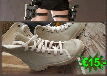 Canvas boots khaki