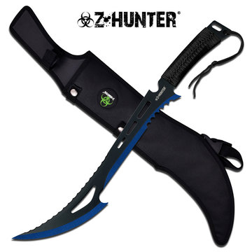 Zombie Hunter Machete Blue
