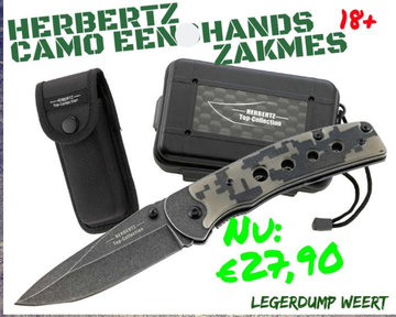 Herbertz Top Collection camo eenhands zakmes