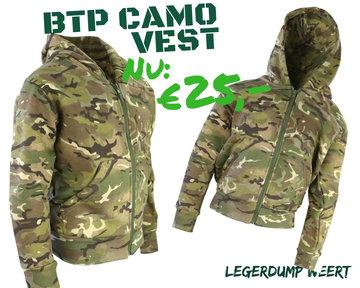 BTP Fleece vest met capuchon