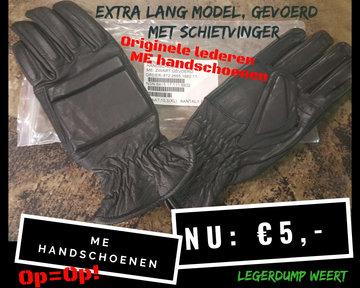 Handschoenen, ME zwart KMAR ( lang model ) Maat S