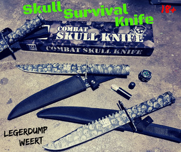 101-INC Skull Survival Knife