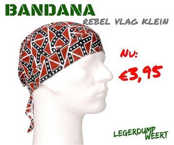 Bandana cap rebel vlag klein