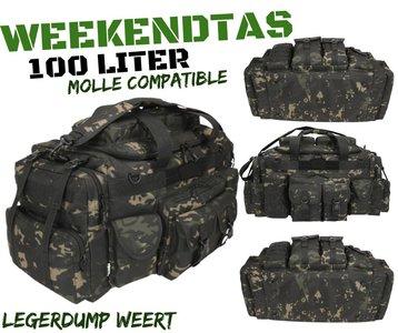 Weekendtas  100 liter MT-Black camo