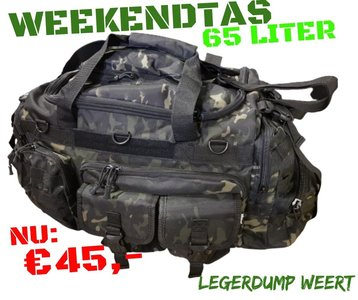 WEEKENDTAS MULTICAM BLACK