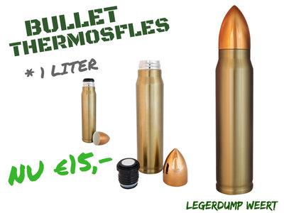 SINTERKLAAS TIP!!! BULLET THERMOSFLES - 1 LITER  - Showmodel op voorraad!