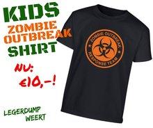 Kids Zombie Outbreak shirt